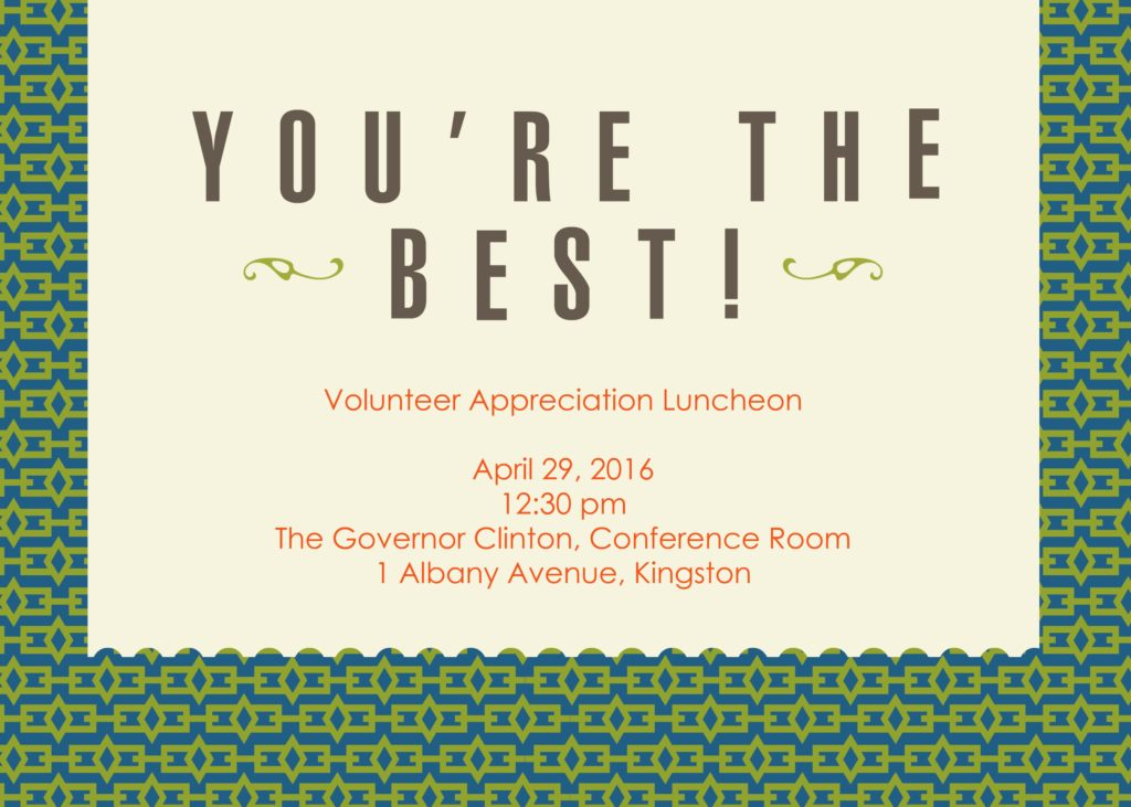 Volunteer Appreciation Luncheon @ Governor Clinton Building | Kingston | New York | United States