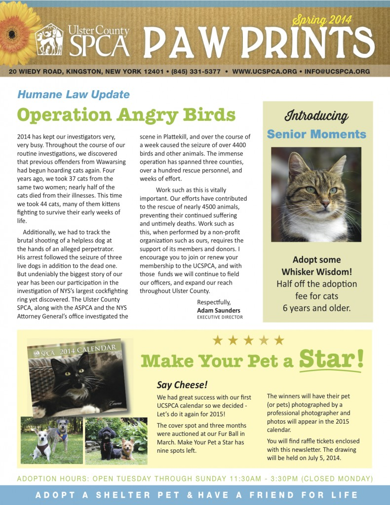 April 2014 UCSPCA Newsletter